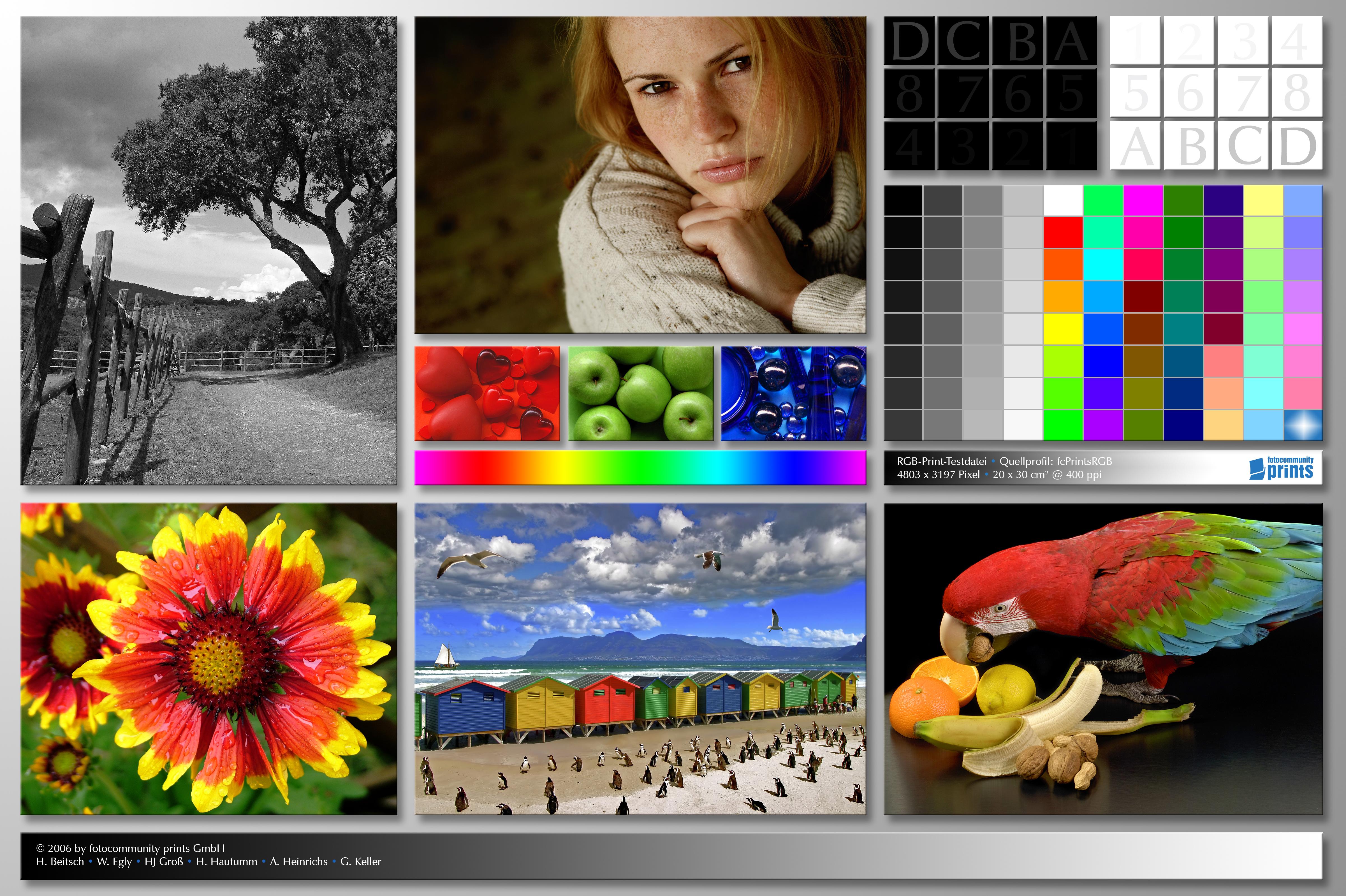 Разноцветная картинка для теста принтера